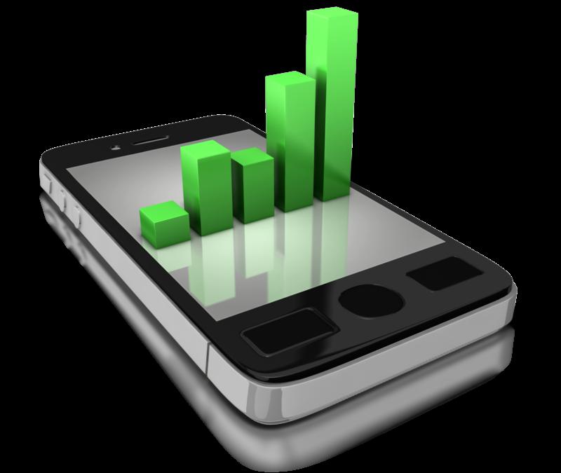 Datenbalken im Smartphone